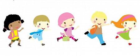 17339934-cinco-ninos-pequenos-corriendo-a-la-escuela